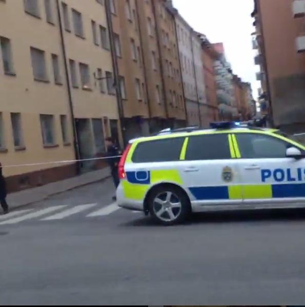 Police close off the scene