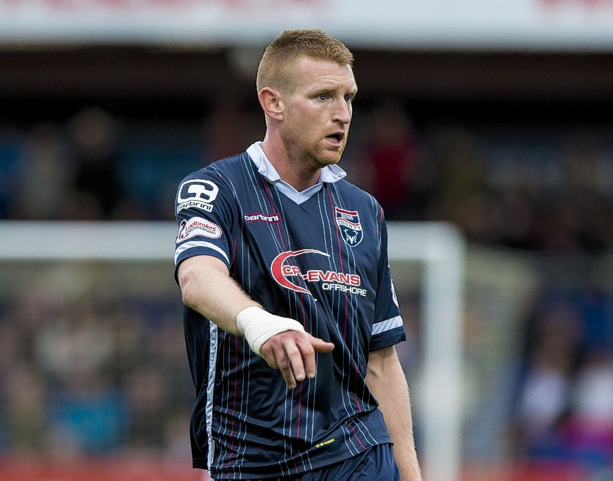 Chris Robertson joined Ross County from Port Vale in the summer.