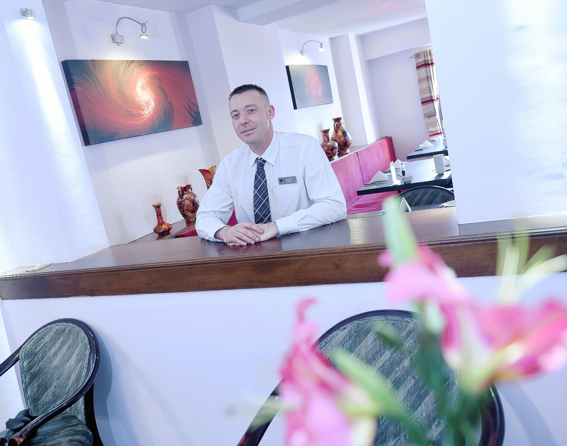Garry Clark, duty manager of the Priory Hotel, Beauly.