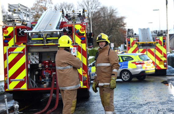 Fire crews were sent to the scene