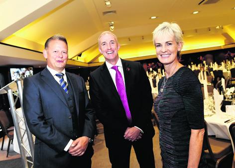 Graeme Hay, Ian Thain and Judy Murray