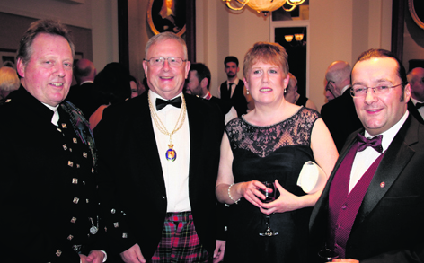 Very Rev Dr Emsley Nimmo and Lord Lyon Dr Joe Morrow with Shona  and Dr Chris Croly