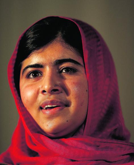 Inspirational Pakistani teenager Malala Yousafzai