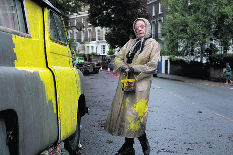 Dame Maggie Smith trades the grandeur of Downton Abbey for a grotty old banger in comedy flick, The Lady In The Van