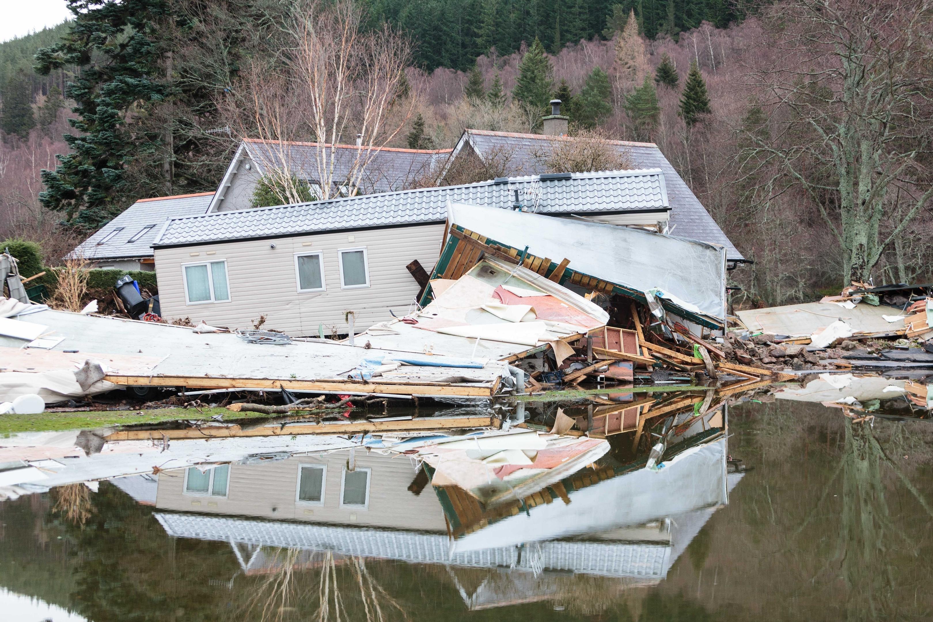 Debris left over after the flooding