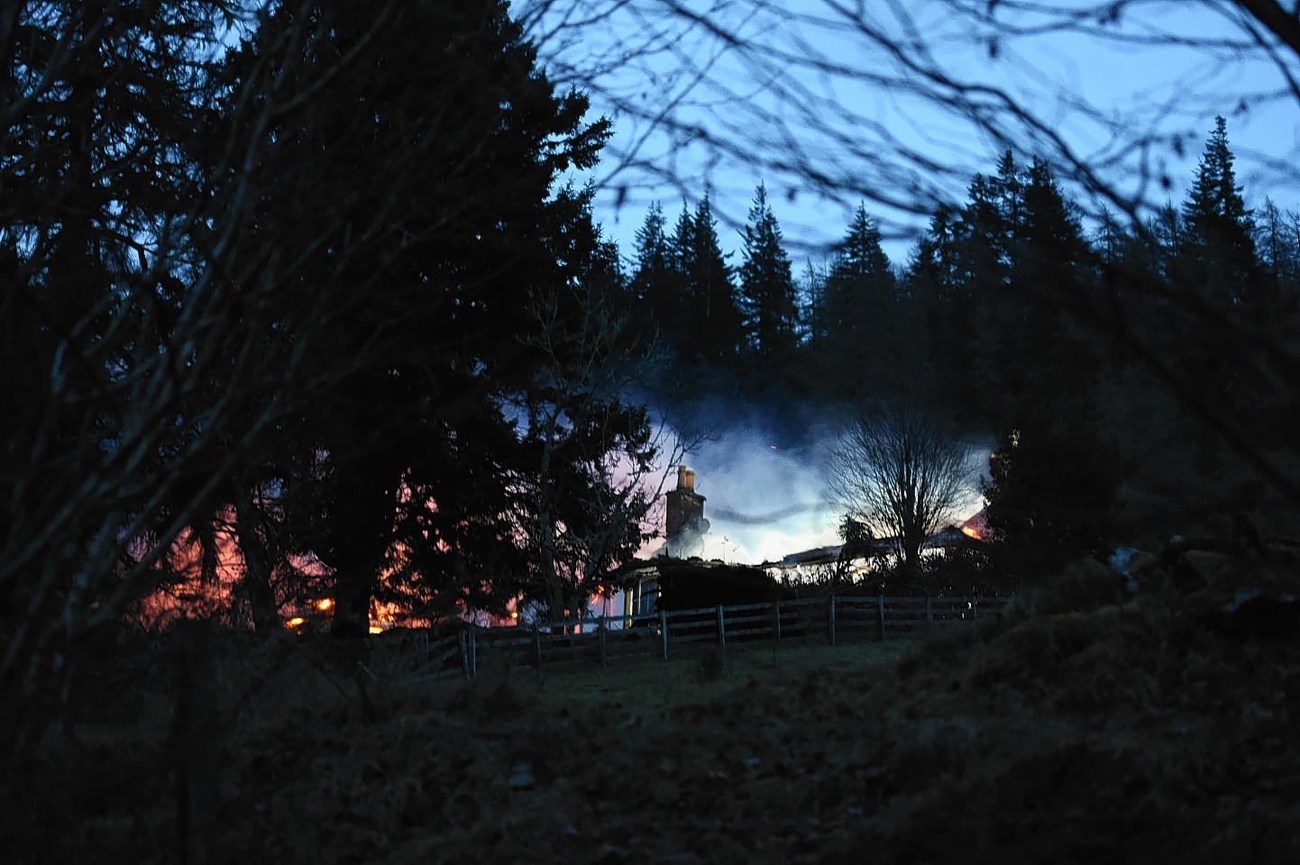 Boleskine House up in flames