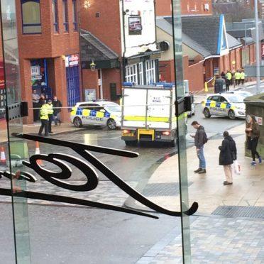 Bomb squad on the scene