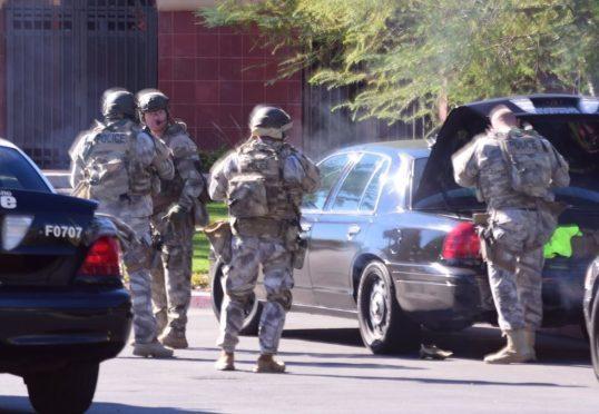SWAT team on the scene in California
