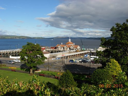 Dunoon Pier, where the restoration work is almost complete.