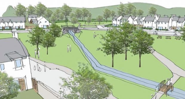 Artist's impression of the Findrassie development