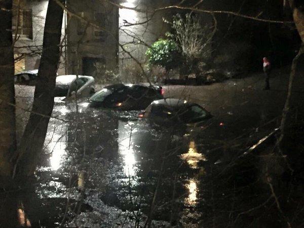 Flooding near the River Dee in Aberdeen