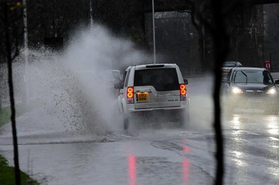 Amber flood alerts are raised across the north and Grampian.