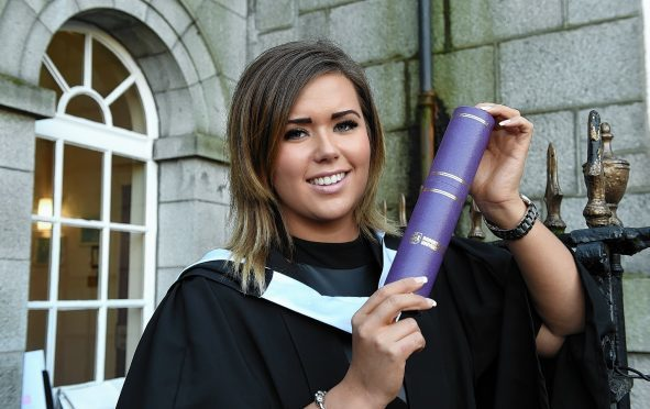 Kayla Costie from Orkney graduates with a bachelor's degree in Mental Health and Nursing at RGU