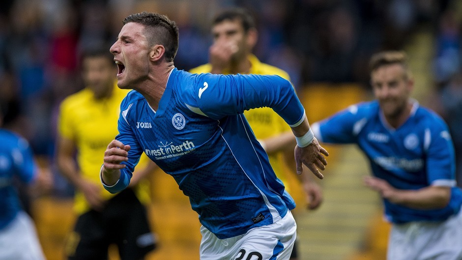 St Johnstone's Michael O'Halloran has been in impressive form this season
