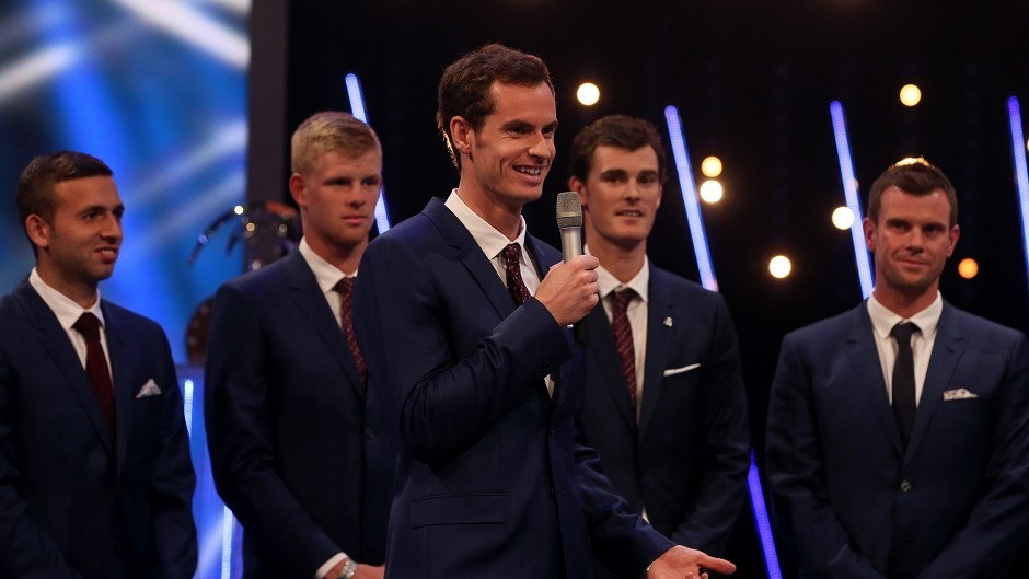 Andy Murray (centre) has been named BBC Sports Personality of the Year 2015