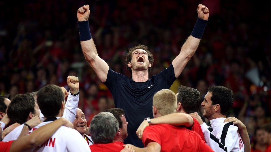 Andy Murray helped Great Britain win the Davis Cup for the first time in 79 years.