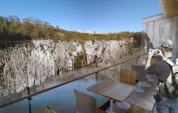 An artist's impression of the Rubislaw Quarry visitor centre