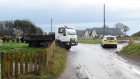 The scene of the crash in Aberdeenshire