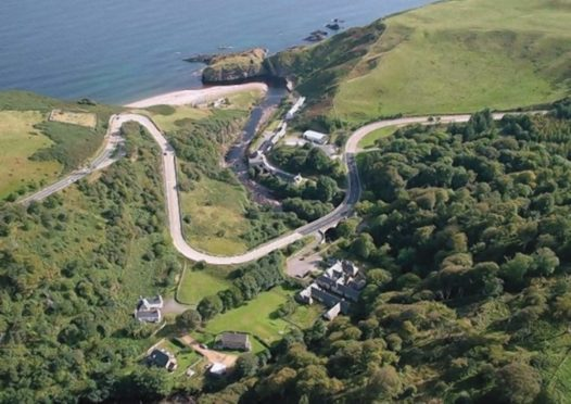 The A9 Berriedale Braes from above