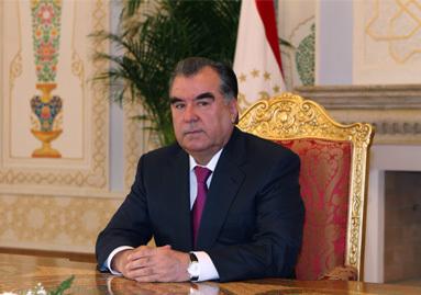 Tajik president Emomali Rahmon