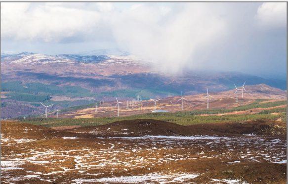 Beinn Mhor Wind Farm near Tomich