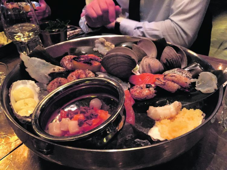 Seafood starter at Kol restaurant in Reykjavik