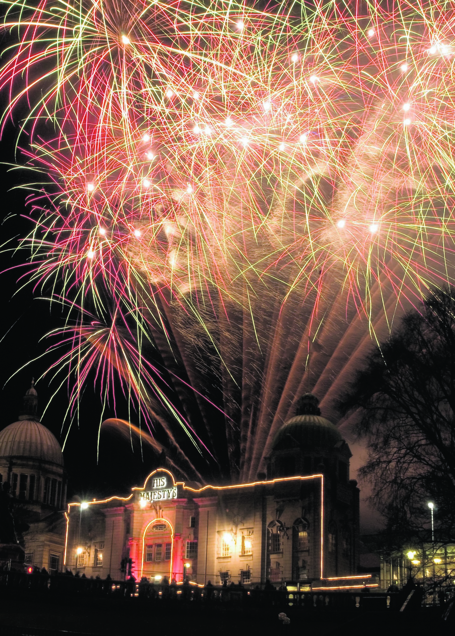 A fireworks display will light the sky over His Majesty's Theatre in Aberdeen