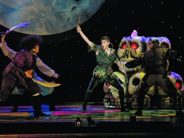 """Aberdeen, Saturday, 28th November 2015 Qdos Pantomimes & Aberdeen Performing Arts """"Peter Pan"""" pantomime at His Majesty's Theatre Aberdeen. Picture by Michal Wachucik / Abermedia"""