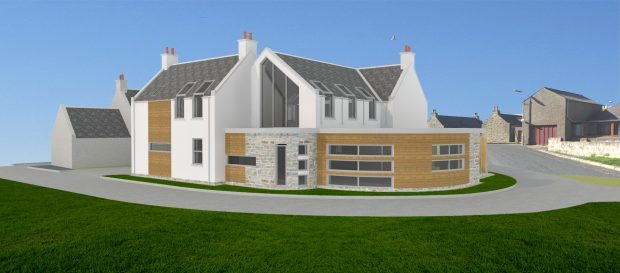 An artist's impression of the house in Cairnbulg