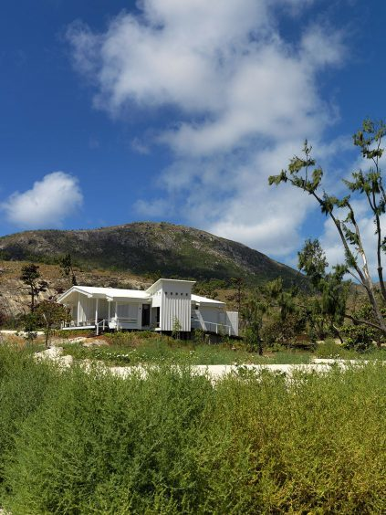 One of the villas at the Lizard Island Resort
