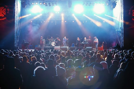 Capercaillie entertain the crowd at Inverness's Red Hot Highland Fling Hogmanay celebrations in previous years