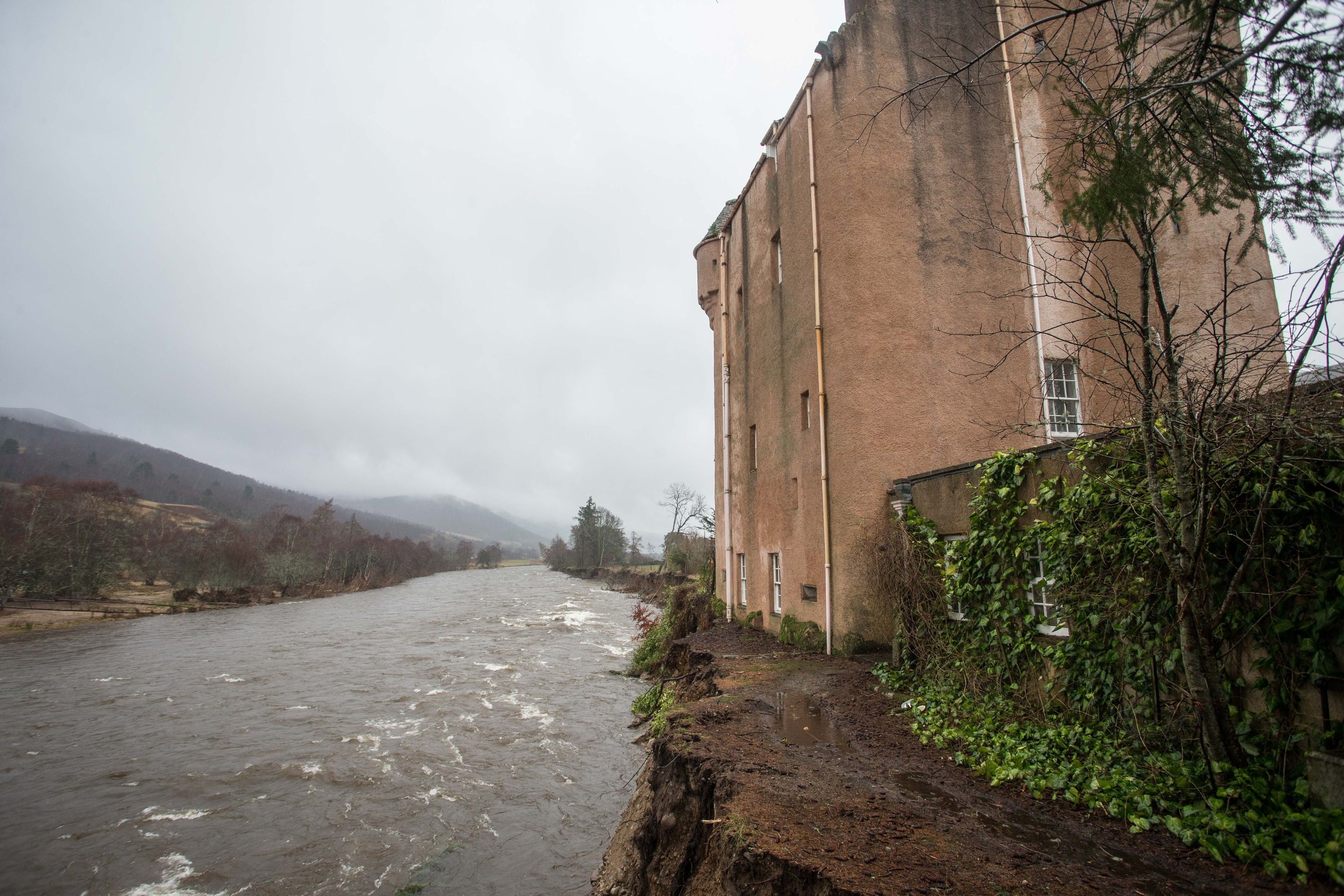 Abergeldie Castle was left dangerously close to the River Dee