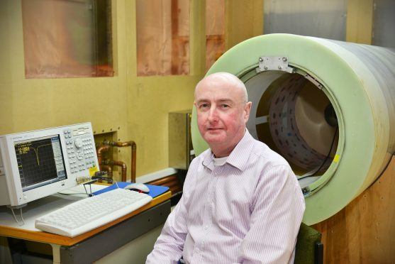 Professor David Lurie of Aberdeen University, which is leading the research into new MRI scanners.