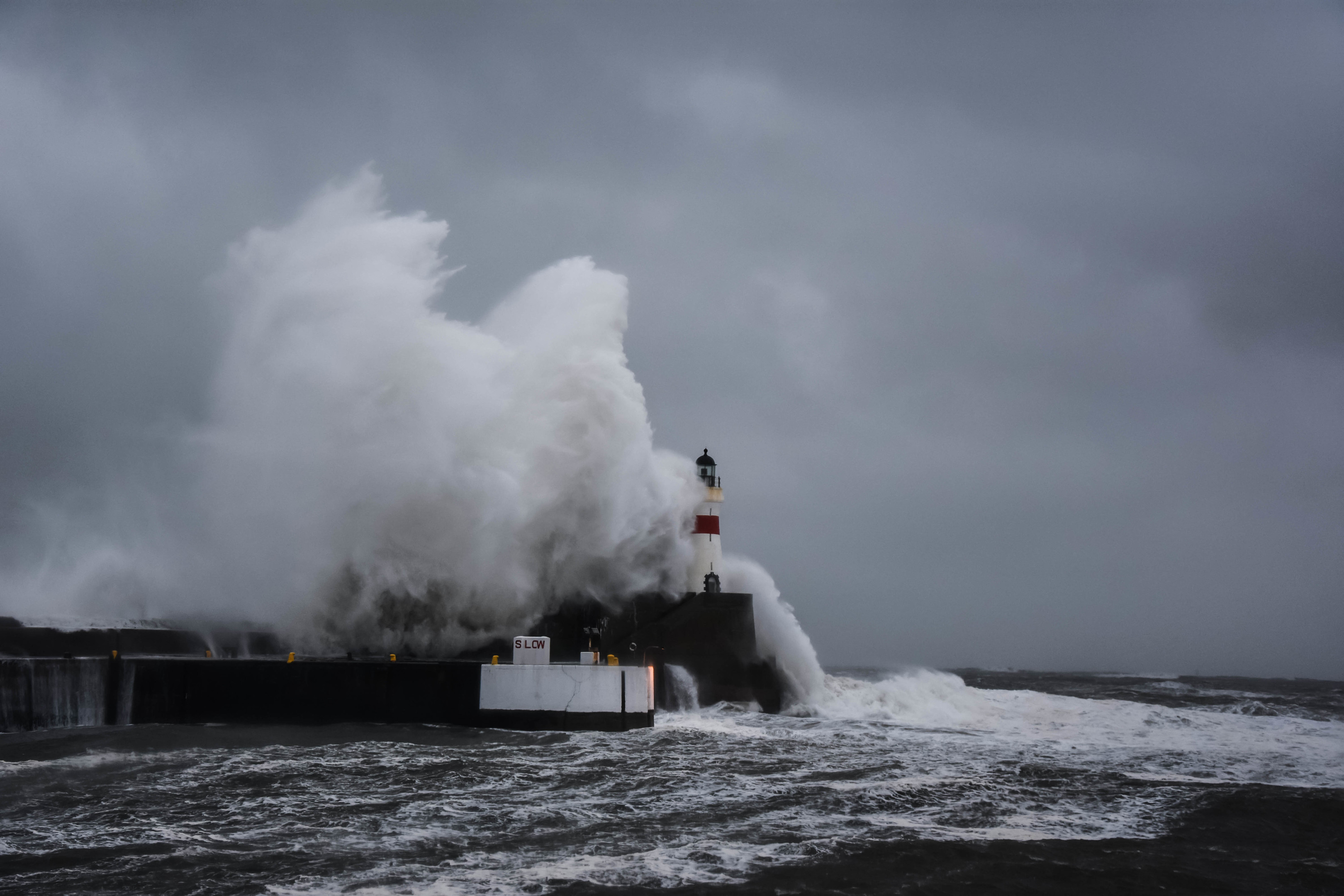 Pictures Gigantic Terrifying Waves Smash Into North East