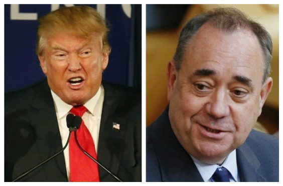 Mr Trump (Left) and Mr Salmond (Right)