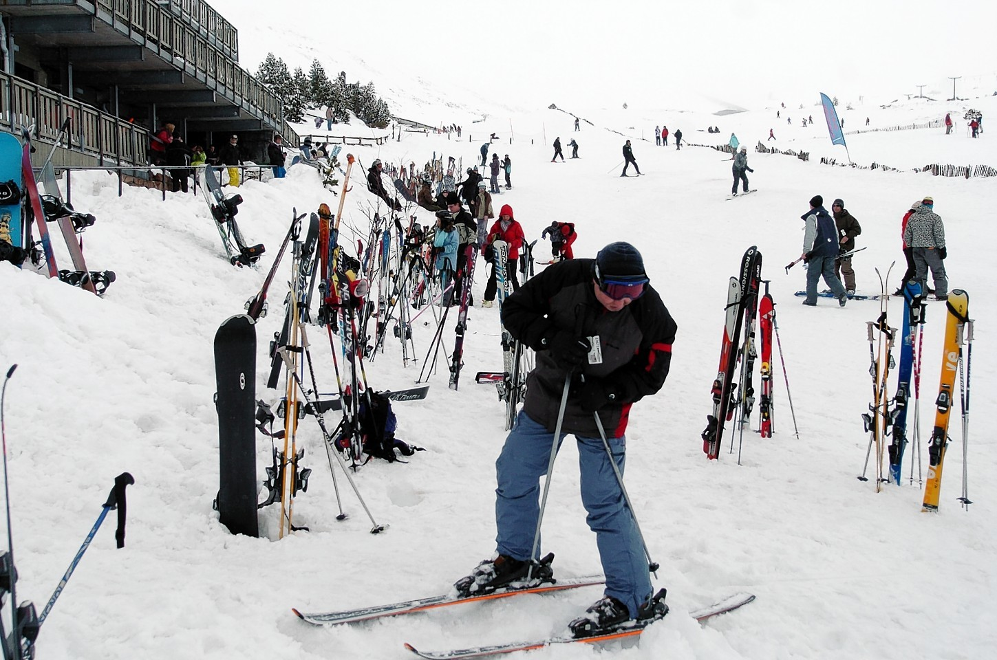 Skiing at the Cairngorm Ski Resort.Picture by Gordon Lennox