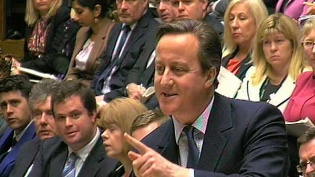 "David Cameron said at PMQs the rise would hit ""hard-working people"""