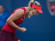 Angelique Kerber, pictured, beat Serena Williams to win the Australian Open women's singles in her first grand slam final