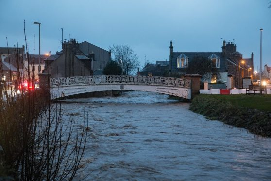 The River Carron in Stonehaven, January 2016.