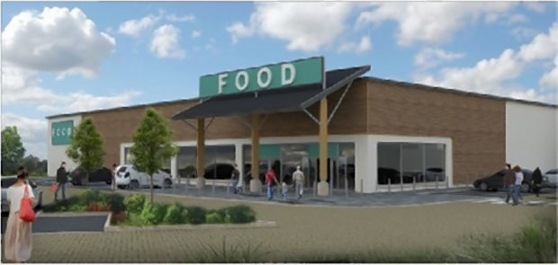 First images of the Stonehaven New Mains supermarket development proposal