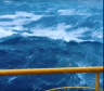 Huge waves have been captured on film in the North Sea