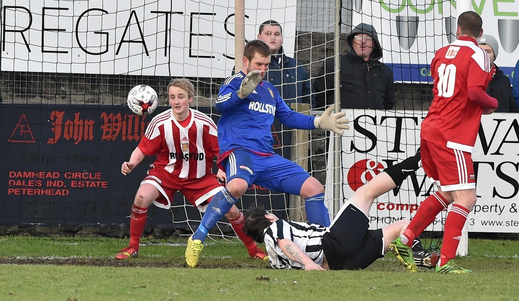Russell McBride scores for Fraserburgh. Picture by Colin Rennie