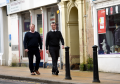Cllr Michael Green, left, and Michael Boylan, right, chairman of Nairn Businesses, in Nairn High Street, who are both kean to get a BIDS scheme operating in Nairn.