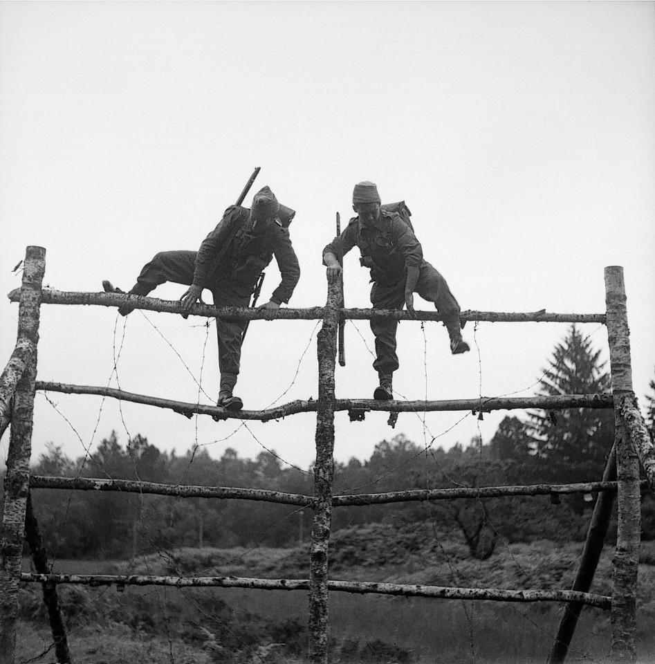 Commandos in training