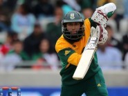 Centuries from Quinton de Kock and Hashim Amla, pictured, cancelled out Joe Root's