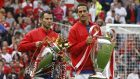 Rio Ferdinand, right, with former Manchester United teammate Ryan Giggs