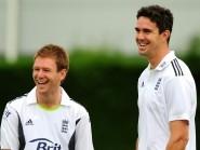 Eoin Morgan, left, slammed the door shut on Kevin Pietersen being selected for England's ICC World Twenty20 squad
