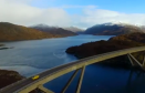 Drone footage of Top Gear driving in the Highlands