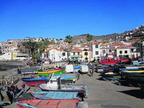 The picturesque fishing village of Camara de Lobos