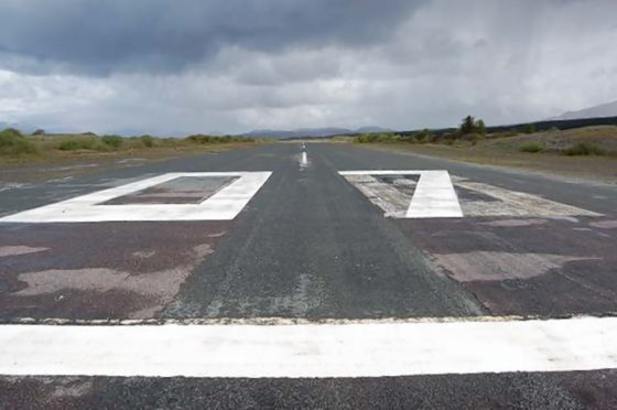 Ashaig airstrip at Broadford on Skye